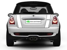 Mini Cooper R56 2007-2013 Boot Stripes - White with Black Border and Laminated
