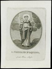 santino stampa popolare 1800 S.TOMMASO D'AQUINO scafa