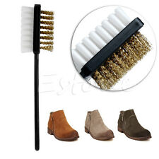 New B Shape 2 Side Suede Nubuck Boot Shoes Cleaner Shoe Cleaning Brush