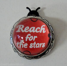 L Reach for stars LUCKY LADYBUG CHARM FIGURINE Inspirational ganz Message