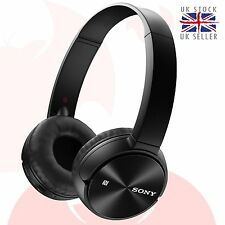 GENUINE Sony MDR-ZX330BT On-Ear Bluetooth Stereo Headphone with NFC Black *UK*