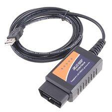 Elm 327 USB Lector De Código De Fallo Diagnóstico OBD2 coche escáner herramienta OBD EOBD