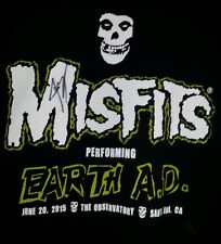 misfits tshirt for men signed by singer extra large rock and roll punk t-shirt