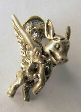 Disney THE FLYING GAUCHITO Sterling Silver 1940's solid cast figural charm mint