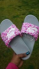 Womens Nib Nike Bling Slides size 8 Nike Shoes Swarovski Bling Shoes