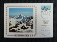 SCHWEIZ MK 1966 842 ALPEN FINSTERAARHORN BERGE CARTE MAXIMUM CARD MC CM c2842