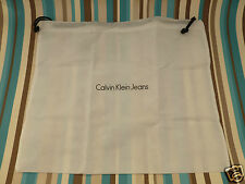 New Calvin Klein canvas gift dust bag medium white accessory storage bags
