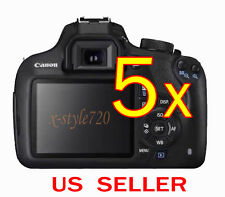 5x Clear LCD Screen Protector Guard Shield Film For Canon EOS 1200D / Rebel T5