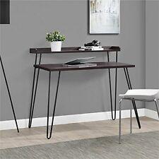 Altra Furniture  Altra Haven Retro Desk With Riser Espresso/Gunmetal Gray