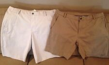 LULULEMON Men's Lot Flat Front Golf Shorts Sz 40, Khaki And White Checked EUC!!