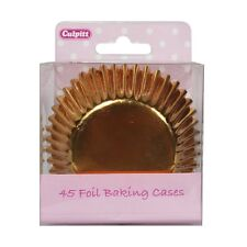 Culpitt 45pk FOIL GOLD 50mm Standard Cupcake Cup Cake Muffin Baking Cases