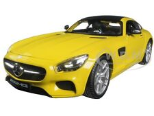 MERCEDES AMG GT YELLOW 1:18 DIECAST MODEL CAR BY MAISTO 36204
