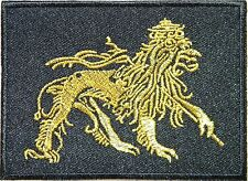 Lion Of Judah Africa Rasta Rastafarian Reggae Ganja Applique Iron on Patch #1