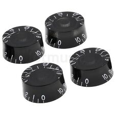 4pcs Speed Control Knobs Black for Gibson Les Paul Guitar replacement