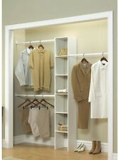 Custom Closet Organizer Kit Shelf System Clothing Bedroom Wardrobe Storage Rack
