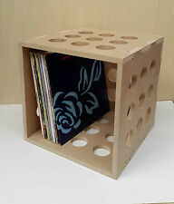 "12"" Vinyl LP Record Storage Cube Box Crate Shelf Portable Stackable"