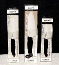 Kyocera Knife Set Advanced Ceramic Revolution 3 pc lot Santoku Utility Paring
