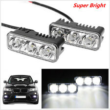 2Pcs 9W White 7000K High Power 3-LED Car SUV Daytime Running Lamp DRL Fog Light