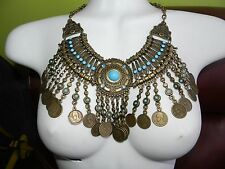New ~ Egyptian Cleopatra's necklace /Belly dance Egypt Costume ~Rare !