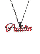 NEW! Suicide Squad Harley Quinn Bling Gem Rhinestone Puddin Necklace DC Comics