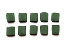 "1"" Mil-spec Elastic Webbing Strap Keepers - Woodland Camo Green - 10 Pack"