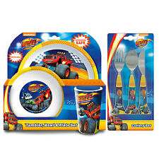 Blaze & The Monster Machines 6 Piece Tableware Set - Dinner Set & Cutlery *NEW
