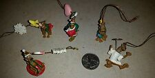 Vintage Scooby Doo Set of 5 Mini Christmas Tree Ornaments EUC 1998-2002