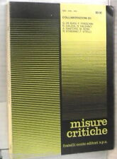 MISURE CRITICHE 88 90 Lucrezio Salfi Wilde Artaud Campailla Bracco Myricae di e