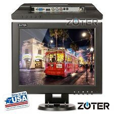 "ZOTER 12"" Inch HDMI BNC VGA LCD CCTV Monitor Screen for DVR PC Security Camera"