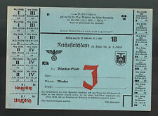 1940-41 Original Germany WW 2 Food Rations Coupon Munich Meat
