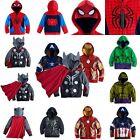 Kids Toddler Boys Superhero Hoodie Hooded Jacket Jumper Sweatshirt Sweater Coat