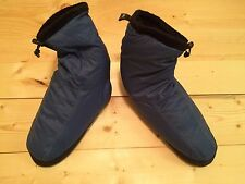 REI Down Slippers Booties Mukluks Tent Shoes Blue Medium Retro Fleece Lined WARM