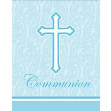 **RELIGIOUS** 8 Faith Classic Blue Communion Invitations & Envelopes!