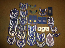 USAF Uniform Patches Rank Insignia Lot Of 35 Vietnam War Era And Later
