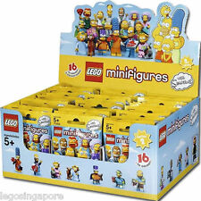LEGO 71009 SIMPSONS MINIFIGURES SERIES 2 SEALED BOX OF 60 MINIFIGS BROWN CARTON