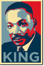 MARTIN LUTHER KING ART PHOTO PRINT POSTER GIFT (OBAMA HOPE STYLE) CIVIL RIGHTS