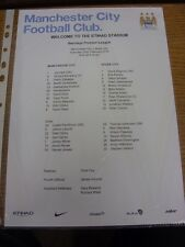 22/02/2014 Colour Teamsheet: Manchester City v Stoke City  . Thanks for viewing