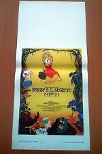 BRISBY E IL SEGRETO DI NIMH locandina poster The Secret of Don Bluth Cartoon