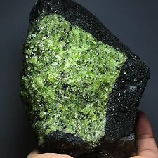 820g Natural, green, olivine, volcanic rock and mineral specimens, hebei prov