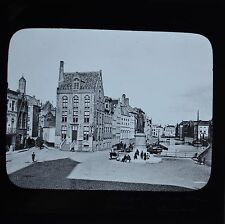 Magic Lantern Slide Photo Belgium Bruges Place Van Eyck & Canal Newton & Co
