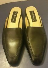DAVID AARON Women's Size 6.5 M Black Leather Boot-Cut Mules Low-Heel Shoes