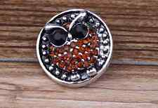 3D Rhinestone Drill Snaps Chunk Charm Button Fit For  Leather Bracelets B2