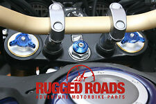 Steering Stem Cover & Fork Preload Adjustors - BLUE - CRF1000