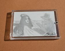Captain Kronos Vampire Hunter 1/1 Original Sketch Card  Hammer Horror