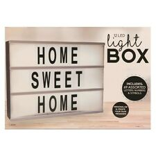 LIGHT UP LETTER BOX CINEMATIC LED SIGN WEDDING PARTY CINEMA PLAQUE SHOP HOME