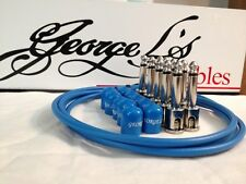 George L's 155 Guitar Pedal Cable Kit .155 Blue / Blue / Nickel - 10/10/5