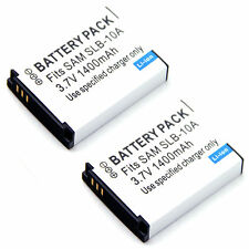 2x 3.7v 1400mAh Battery For PX1733 PX1733E-1BRS Toshiba Camileo S30 X150 X155