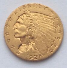 1927 INDIAN HEAD GOLD $2.5 DOLLARS COIN FREE SHIPPING