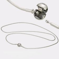 Authentic Pandora Essence Sterling Silver Necklace w/ Pandora Lock 45cm 596004