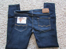 NEW AMERICAN EAGLE SUPER SKINNY ACTIVE FLEX JEANS MENS 34X32 DARK FREE SHIP!